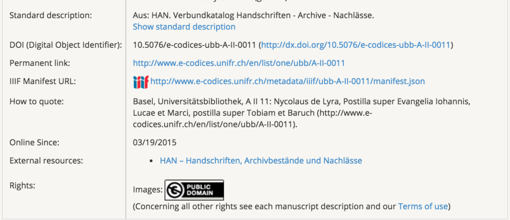 IIIF manifest link (look for the colorful IIIF logo)
